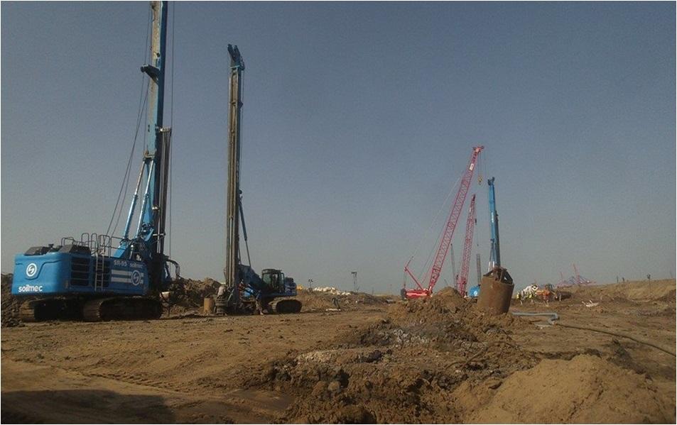 Gas treatment plant at hakl zohr port-said